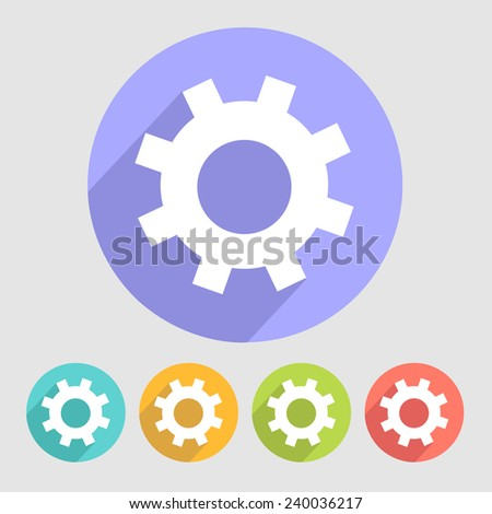 Gear icons set great for any use, Vector EPS10. - stock vector