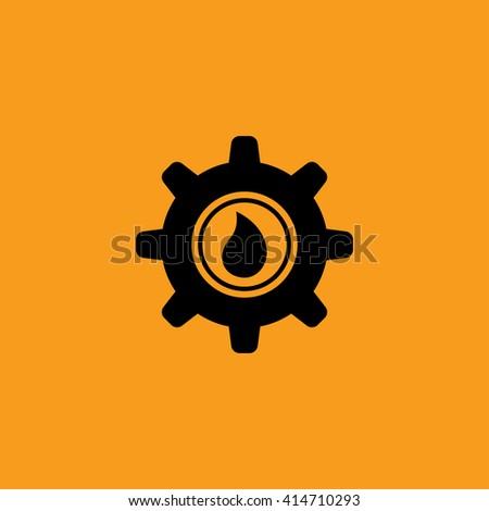 Gear oil icon vector - stock vector