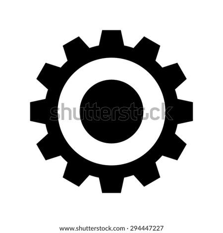 Gear or cog icon - Vector - stock vector