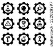 gear set and construction vector - stock vector