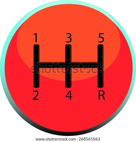 Gear shift icon - vector illustration - stock vector