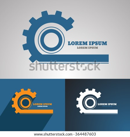 Gear vector logo icon template. Machine, progress, teamwork logo. Technology and techno shapes. Gear symbol vector eps 10 - stock vector