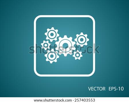 Gears icon - stock vector
