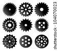 Gears icon set - stock vector