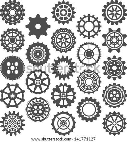 Gears icons - stock vector