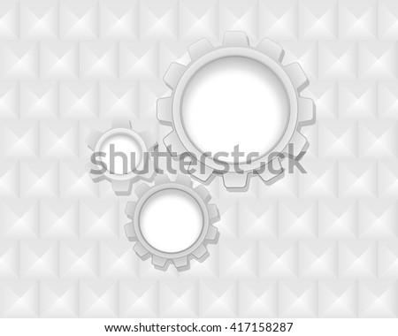 gears industrial background 3d - stock vector