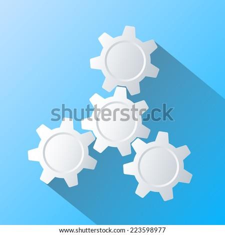 Gears Infographics. Flat design - stock vector