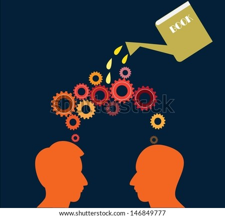 gears, Learning concept, vector - stock vector