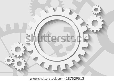 gears on a creative background - stock vector