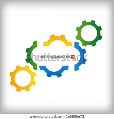 Gears on white background  - stock vector