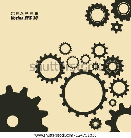 gears template - stock vector