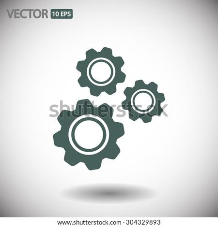 gears   .vector icon 10 eps - stock vector