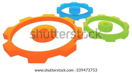 Gearwheel, gear, cogwheel vector. - stock vector