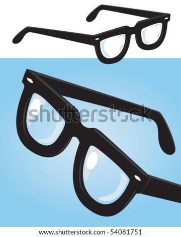 geek glasses - stock vector