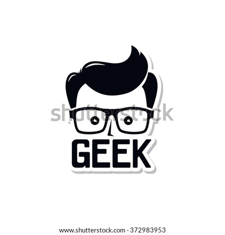 geek nerd - stock vector