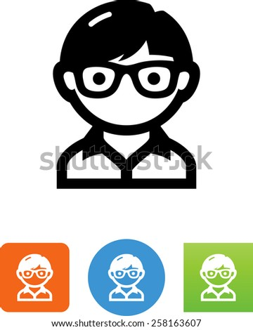 Geek symbol for download. Vector icons for video, mobile apps, Web sites and print projects.  - stock vector
