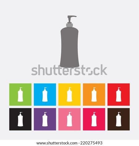 Gel, Foam or liquid soap dispenser pump icon - Vector - stock vector
