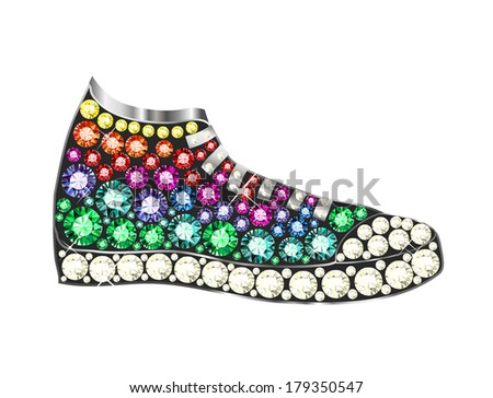 Gem Sneakers - stock vector