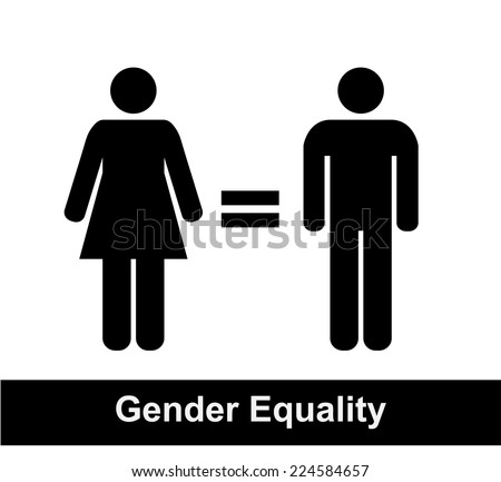 Gender equality sign - stock vector