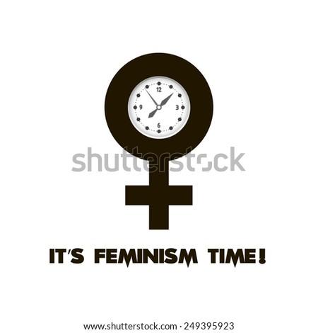 Gender symbols. Sexual revolution. Human rights. - stock vector