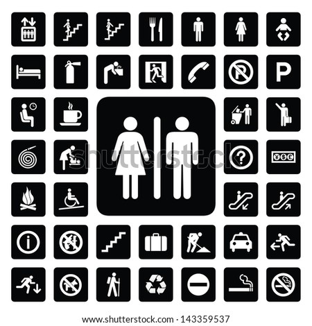 general icon for every place - stock vector
