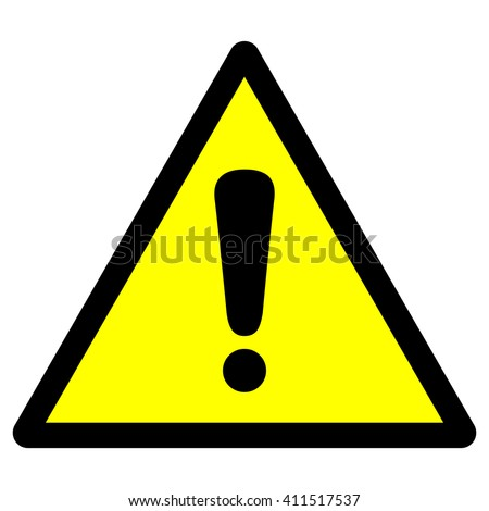 General warning sign with exclamation mark , vector illustration - stock vector