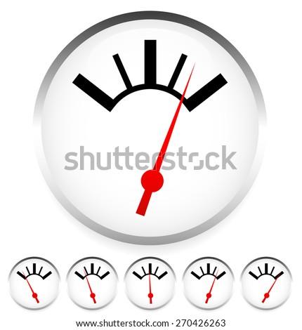 Generic dial, gauge. Measurement, level indicators. - stock vector