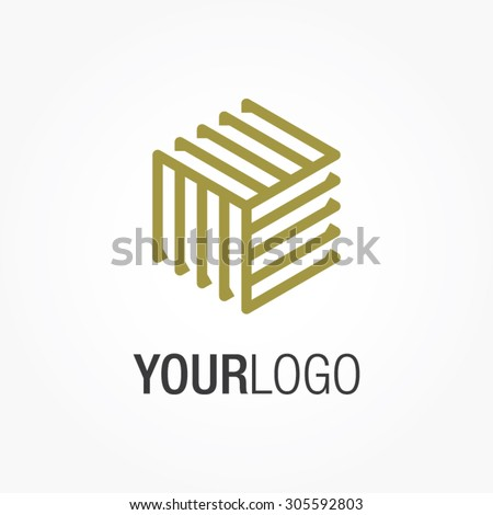 Generic vector logo, for your company. Square logo. - stock vector