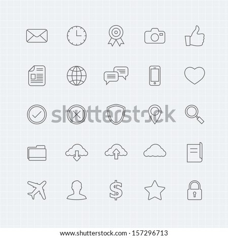 Generic vector thin line symbol icon   - stock vector