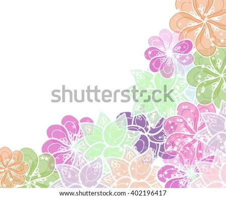 gentle flower framework for your text - stock vector