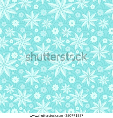 Gentle seamless pattern. Light pattern. Bright seamless pattern. Stylized lotus. The petals of the lotus. Flower pattern. The pattern of the lotus. Waves. Decorative pattern. Lotus, petals, buds.  - stock vector