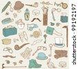 Gentlemen's Accessories doodle collection - hand drawn in vector - stock vector