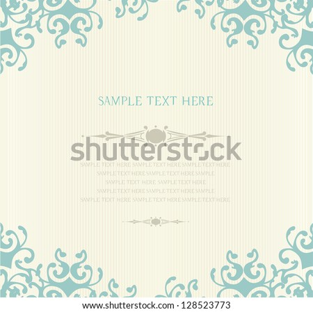gently invitation and greeting card with vintage background artwork - stock vector