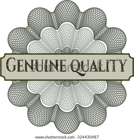 Genuine Quality abstract linear rosette - stock vector