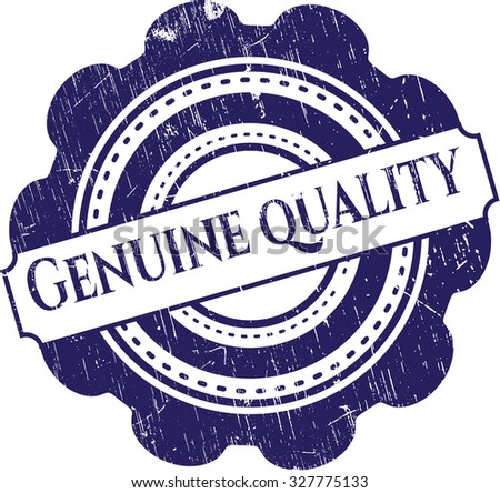 Genuine Quality rubber grunge seal - stock vector