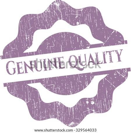 Genuine Quality rubber grunge texture stamp - stock vector