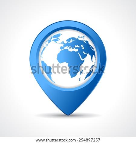 Geo map pin - stock vector