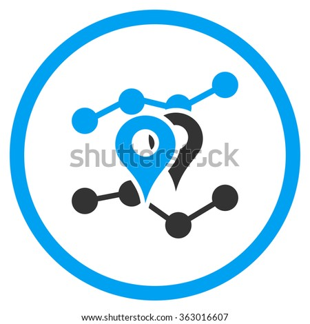 Geo Trends Icon - stock vector