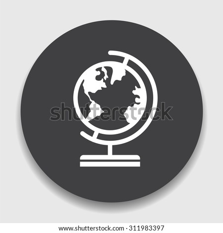 Geography icon - stock vector
