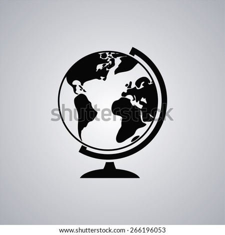 geography school earth globe  icon. Vector  Eps 10  - stock vector