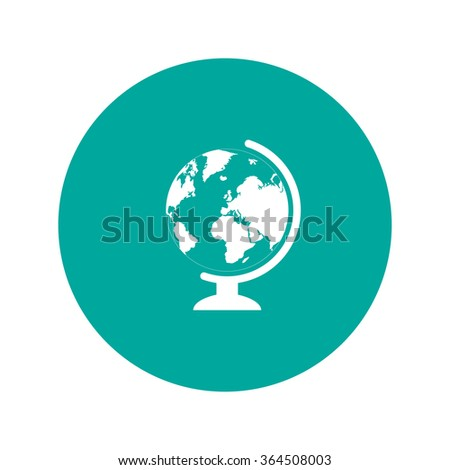 geography school earth globe web icon. vector illustration - stock vector