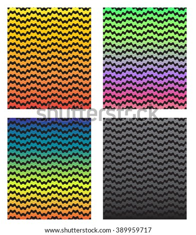 Geometric abstract decorative background in different colors - stock vector