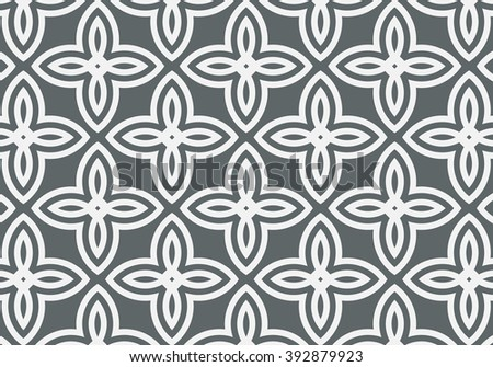 Geometric abstract flower, vector pattern - stock vector