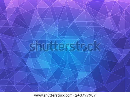 Geometric abstract polygonal background (vector) - stock vector