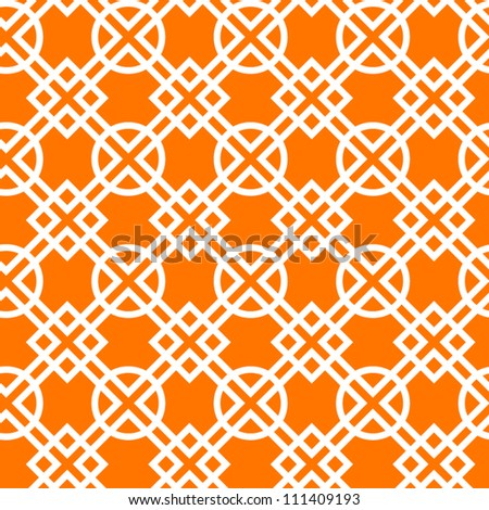 Geometric abstract seamless pattern in orange, vector - stock vector