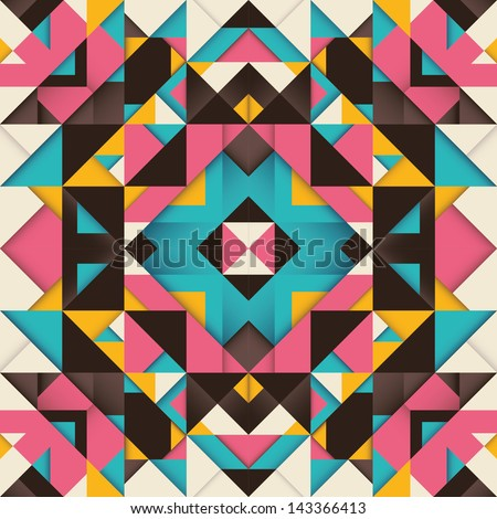 Geometric arabesque. Vector illustration. - stock vector
