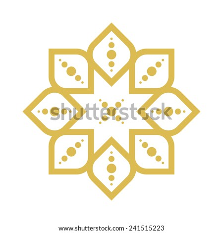 geometric arabic pattern - stock vector