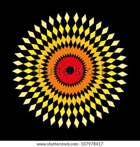geometric art - stock vector