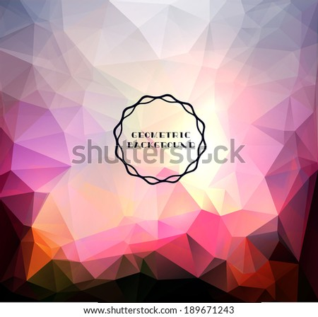 Geometric Aurora Borealis Lights-Vector Background - stock vector