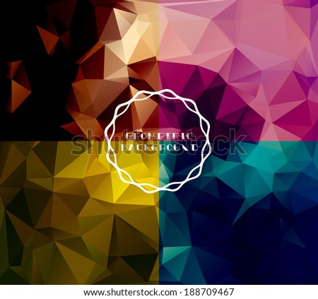Geometric background, polygonal design.  - stock vector